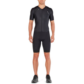 2XU Compression Full Zip Sleeved Trisuit Men black/black